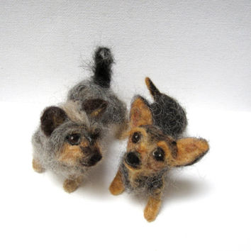 Custom needle felted pet sculpture, 3D dog portrait, dog meme, pet replica, fiber sculpture, realistic dog, MADE to ORDER by nodsu