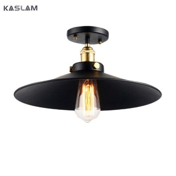 Loft Edison Vintage Ceiling Lamp fixture retro kitchen ceiling lights simple Aisle hallway light metal lamp shades