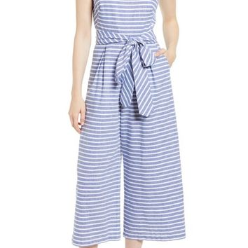 1901 Stripe Wide Leg Jumpsuit (Regular & Petite) | Nordstrom