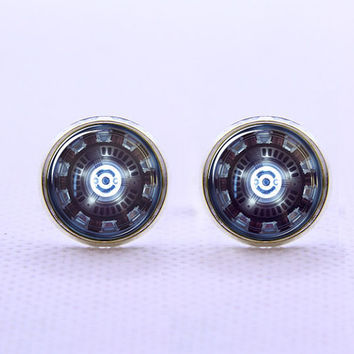 Iron Man Chest Reactor Cufflinks  -Mens Silver Plated Cufflinks,Accessoires for Man-Mens Gift ,Gift for Daddy ,Best Man