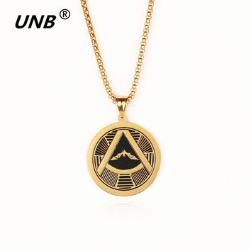 Batman Bat Pendant Men's Necklace Fahion Stainless Steel Gold Silver Color Masonic Vintage Long Chain Necklaces New Punk Jewelry