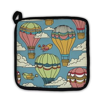Potholder, Pattern With Hot Air Balloons