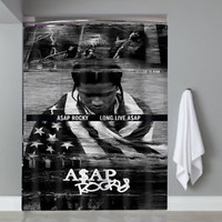 Top Famous Hot Rocky Long Live Asap Cover Custom Shower Curtain Limited Edition