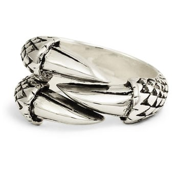 Sterling Silver Dragon Claw Medieval Ring - Three Eagle Talons in Sterling Silver 925