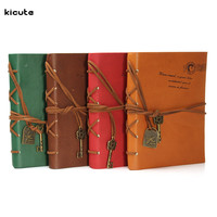 Vintage Magic Key PU Leather Cover Blank String Diary Notebook Sketchbook Journal Notepad Fit For Home Travel Office
