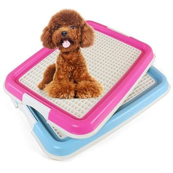 New Mesh Pet Toilet Tray Indoor Restroom Fence Tray Pad Mat Cat Potty Dog Pee Pads Dog Toilet Mat 48*35*3.5cm