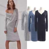 FASHION LOOSE KNIT DRESS