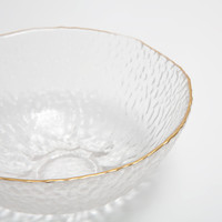 Metallic-rim glass bowl with a raised design - Bowls - Tableware | Zara Home United Kingdom