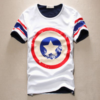 Captain America Print T-Shirt