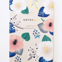 Clap Clap: Hibiscus Notebook in Ivory