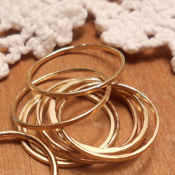 3 piece set midi rings - 3 different sizes your choice - stacking rings - stack ring