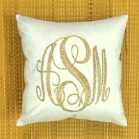 30% OFF Monogram Pillow Sequin Decorative Pillow Personalized Custom Made Dorm Decor Baby Housewarming Wedding Anniversary Gift in All Sizes
