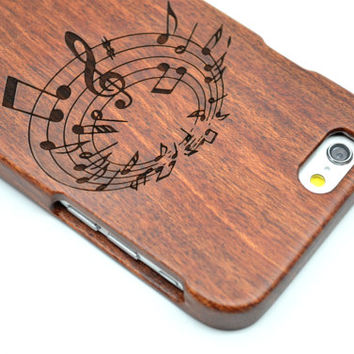 iPhone 6 iPhone 6 Plus Wood Case - Rose Wood Music - Handmade Wooden Case and Cover for Your iPhone 6 & iPhone 6 Plus