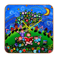 Renie Britenbucher Reading Is Magical Custom Clock