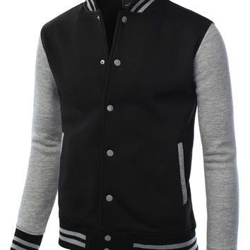 Mens Varsity Baseball Bomber Jacket
