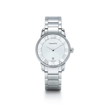 Tiffany & Co. - Atlas® dome watch in stainless steel, quartz movement.