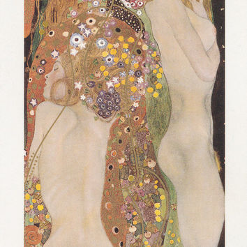 "Vintage French Postcard -- Gustav Klimt ""Goldfishes"" -- 1990?"