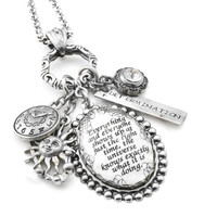 Inspirational Quote Necklace - The Universe