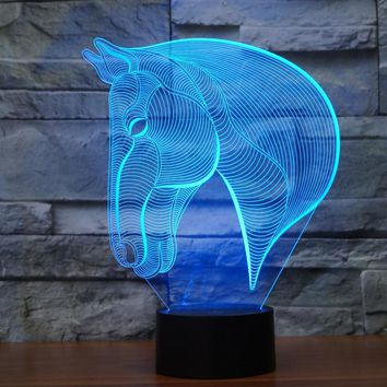 HORSE 3D Lamp 8 Changeable Colors  [FREE SHIPPING]