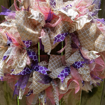 deco mesh wreath, spring wreath, summer wreath, deco mesh, home decor, door wreath, burlap, spring mesh wreath door hanger ribbons, flowers