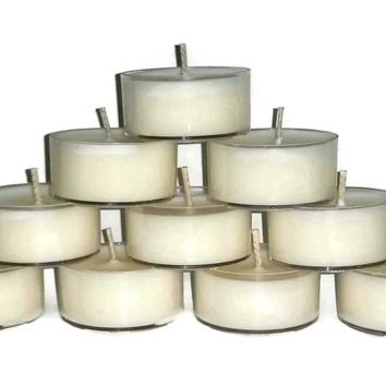 Vegan Natural Soy Wax UNSCENTED Tea lights, Pick your size Box,  Tea Lights