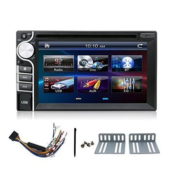 Bosion 2 DIN Touchscreen Car Stereo with Bluetooth Dvd Mp3 Radio 6.2inch Black