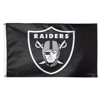 Oakland Raiders WinCraft Deluxe 3' x 5' Logo Flag