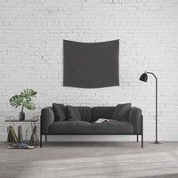 Midnight Black Wall Tapestry by spaceandlines