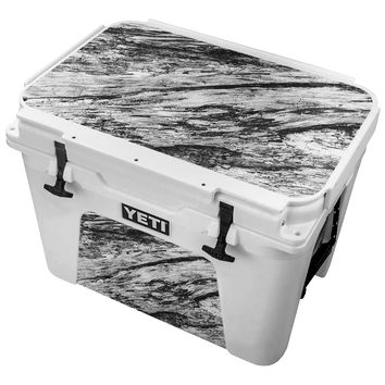 White Washed Wood Skin for the Yeti Tundra Cooler