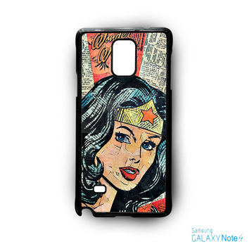 Wonder Woman Superhero Comic Book for Samsung Galaxy Note 2/Note 3/Note 4/Note 5/Note Edge phone case