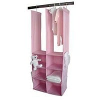 Seed Sprout - Double Closet Organizer, in Pink