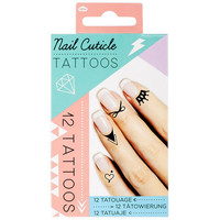 Nail & Cuticle Tattoos Black One Size For Women 25812010001