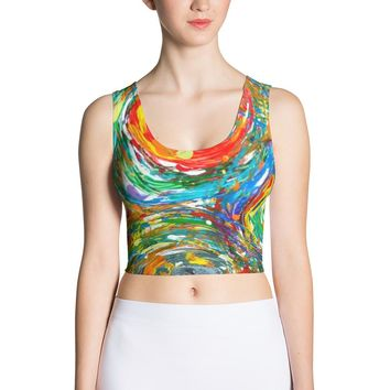 Galaxy of Colors Sublimation Cut & Sew Crop Top