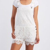 Floral Lace Shortalls
