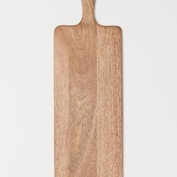 Cutting Board with Handle - Beige/mango wood - Home All | H&M US