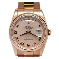 Rolex Rose Gold Day-Date President Wristwatch circa 2002
