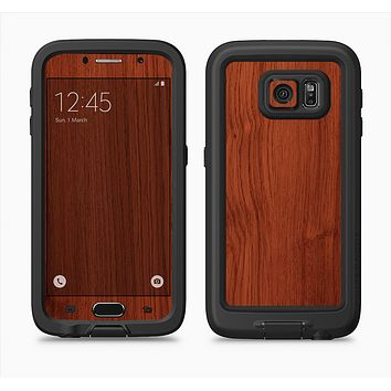 The Rich Wood Texture Full Body Samsung Galaxy S6 LifeProof Fre Case Skin Kit