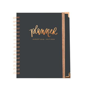 Grey and Rose Gold Planner | August 2019 - July 2020