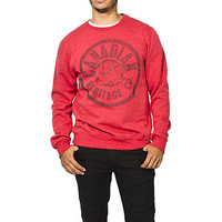 Guys Canada Print Crew Neck Fleece Top