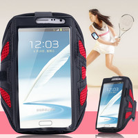 Note 2/3/4 Capa Sports Running Arm Band Grid Case For Samsung Galaxy Note 2/ Note 3/ Note 4 Workout Phone Holder Arm Band Pounch
