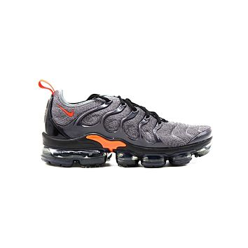Nike Men's Air Vapormax Plus Cool Grey Team Orange