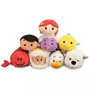 New Arrival The Little Mermaid Fish Max Dog TSUM TSUM Mini Plush Toy Christmas Gift Collection