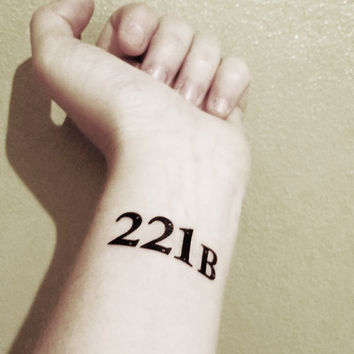 Sherlock - 221B - Temporary Tattoo