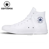 Original New Arrival  Converse Chuck Taylor ll Unisex  High top Skateboarding Shoes Canvas Sneakers