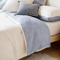 TWO-TONE STRIPED DYED-THREAD LINEN BEDDING - Bedding - Bedroom | Zara Home United States of America