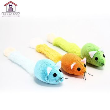 Cat Toys Plush False Mouse Toy With Catnip Cats Crazy Scratch Grab Toys Long Tail Mice Interactive Kitten Toy For Cats SJ0002