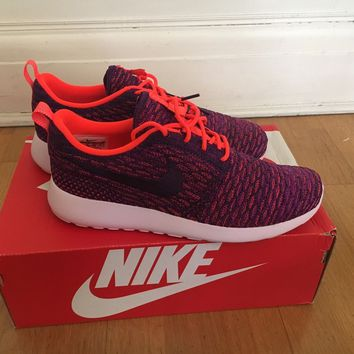 Nike Rose One Flyknit - Total Crimson /Grand Purple - Vivid Purple -Women's UK 6