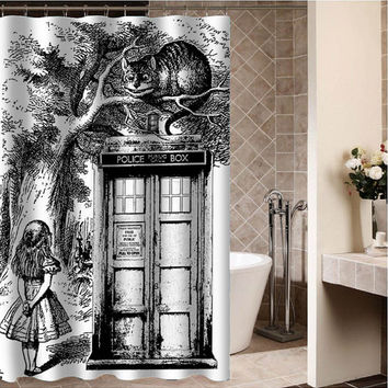 Curtains Ideas alice in wonderland curtains : Calvin and Hobbes Custom Shower from desemberkah on Etsy | Things