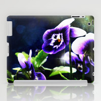 Violet Johnny Jump Ups And Stars iPad Case by Minx267