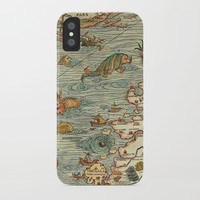 Medieval Map Scandinavia 1539 iPhone Case by digitaleffects